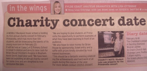 Evening Gazette article
